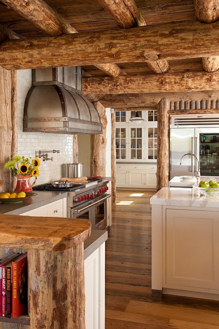 belle maison de charme construite en bois | vivons maison - Cuisine En Bois Brut