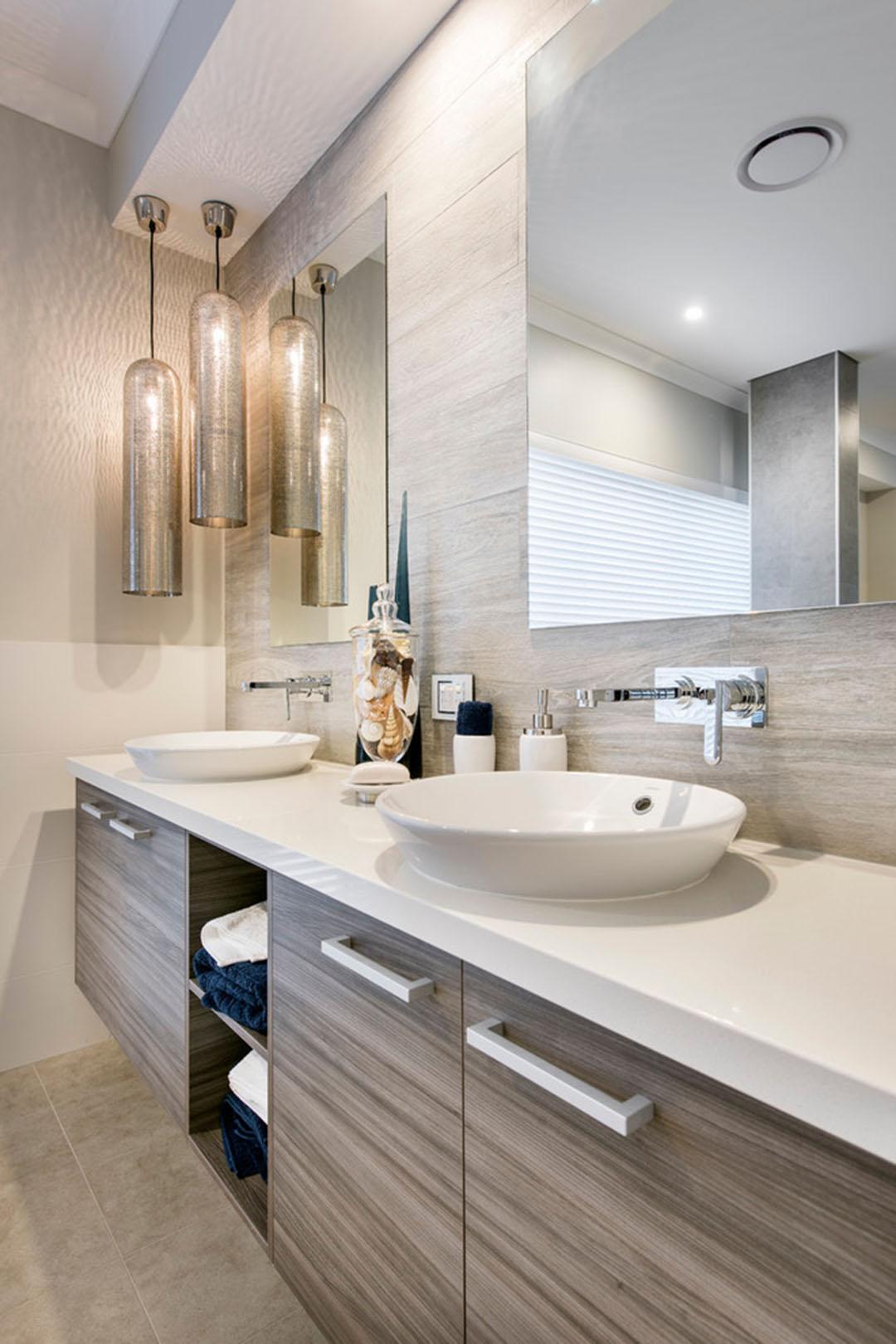 Design interieur agreable et moderne pour cette jolie for Salle de bain design avec décoration cinéma maison