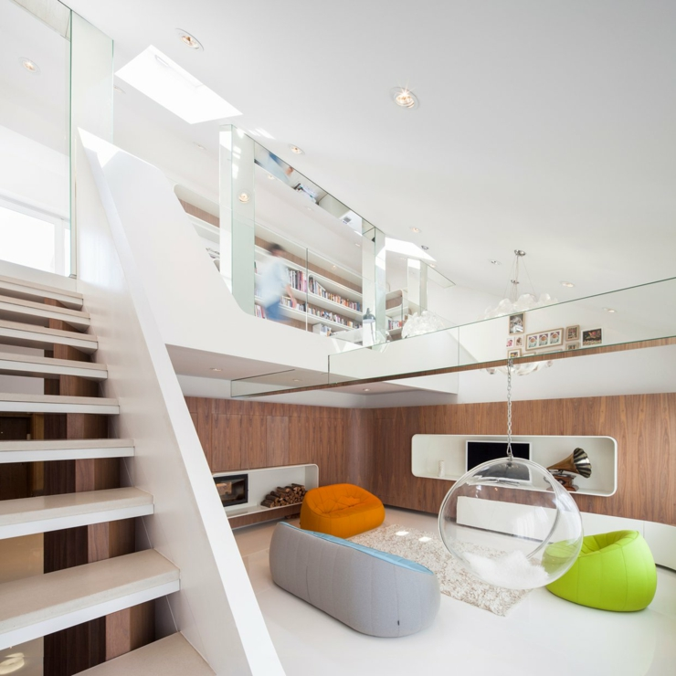 Loft au design contemporain un brin futuriste vivons maison for Design interieur contemporain
