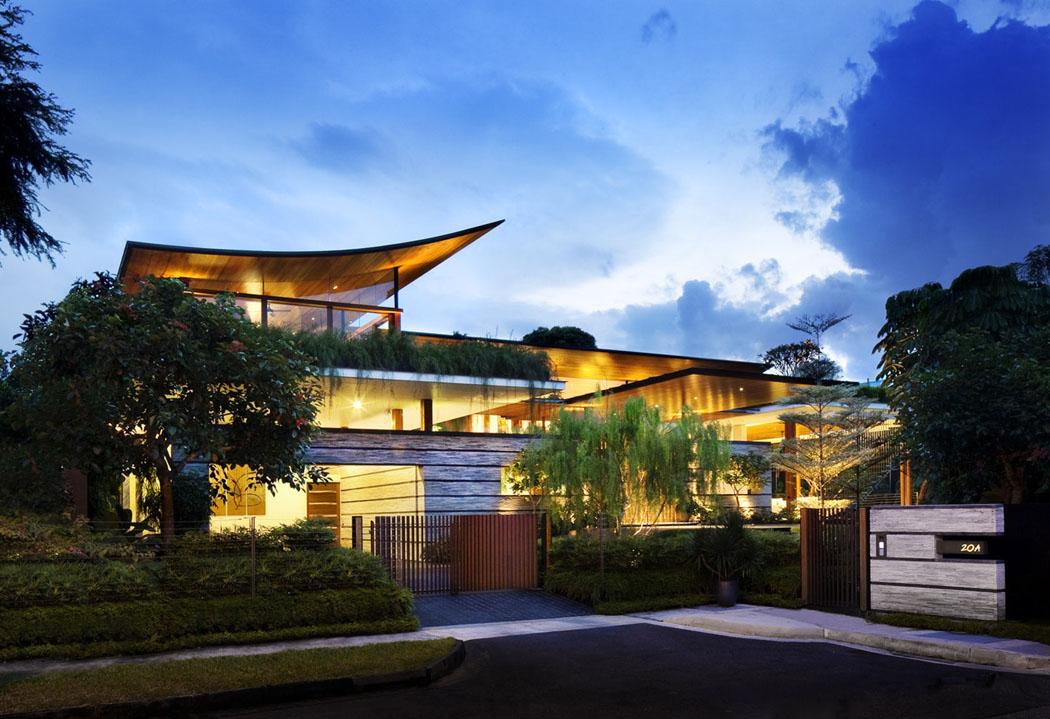 Maison verte l architecture ouverte et a r e singapour vivons maison - Residence de luxe montecito santa barbara ...