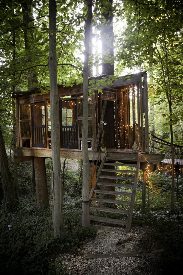 La Maison Dans Les Bois Oudon - Maison en bois dans les arbresà Atlanta Vivons maison