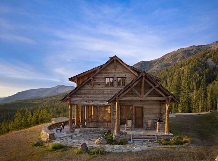 Maison rustique enti rement en bois au montana tats - Vacances a la montagne villa rustique aspen ...
