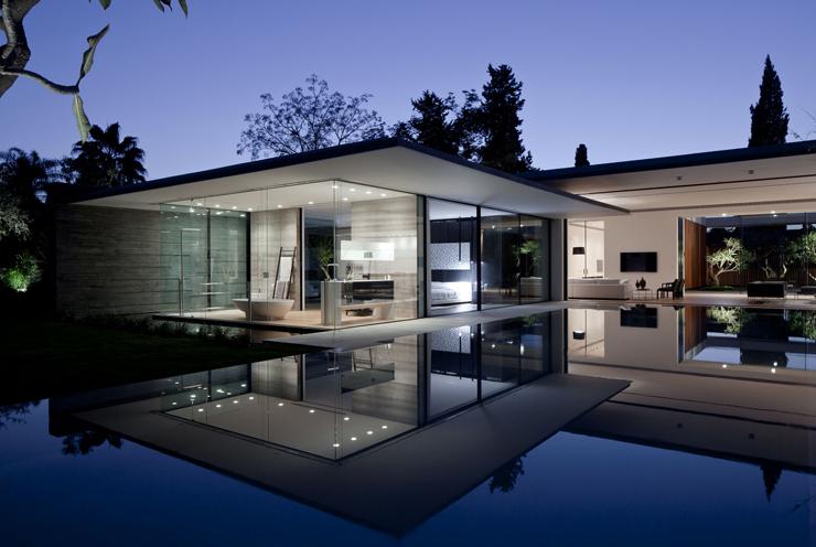 Maison d architecte flottante au dessus de l eau tel for Maison de design arkitek