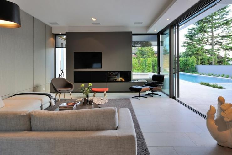 Belle maison avec piscine superbe près de Lyon  Vivons maison -> Living Salon Bois Emplacement Tv