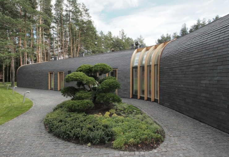maison plain pied l architecture contemporaine vilnius lituanie vivons maison. Black Bedroom Furniture Sets. Home Design Ideas