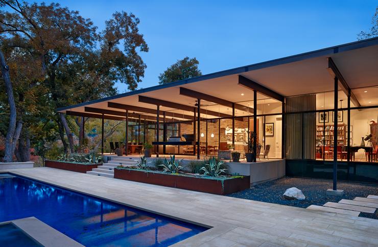 Magnifique maison moderne dans les environs d austin for Les belles maisons modernes