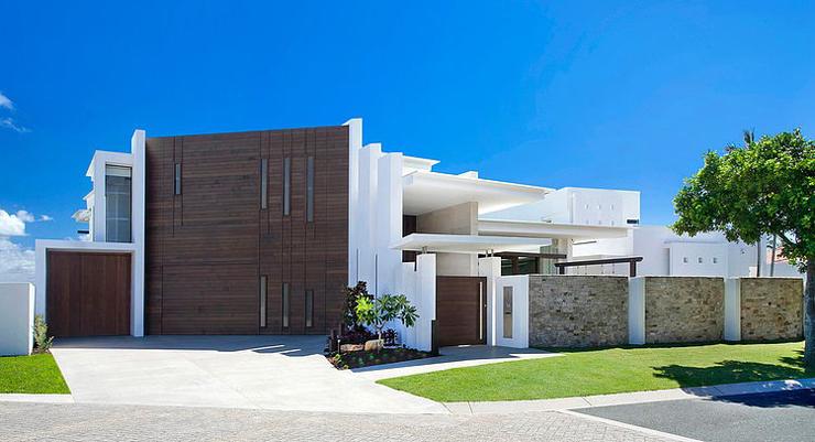 Maison moderne australienne pour une famille moderne for Exterieur villa moderne