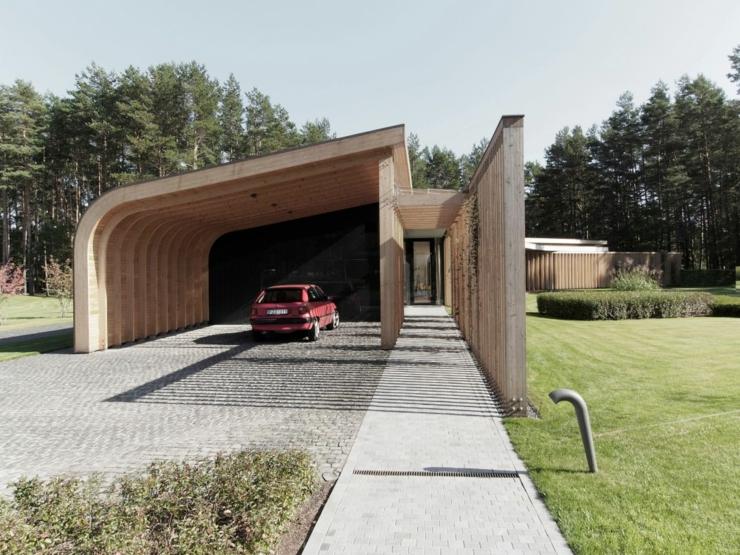 Maison plain pied l architecture contemporaine vilnius for Architecture contemporaine maison