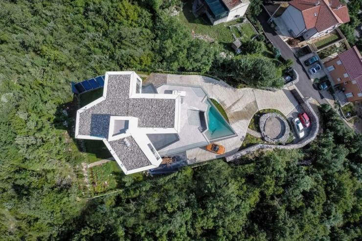 La Propriete A L Architecture Contemporaine Vue Depuis Le Ciel