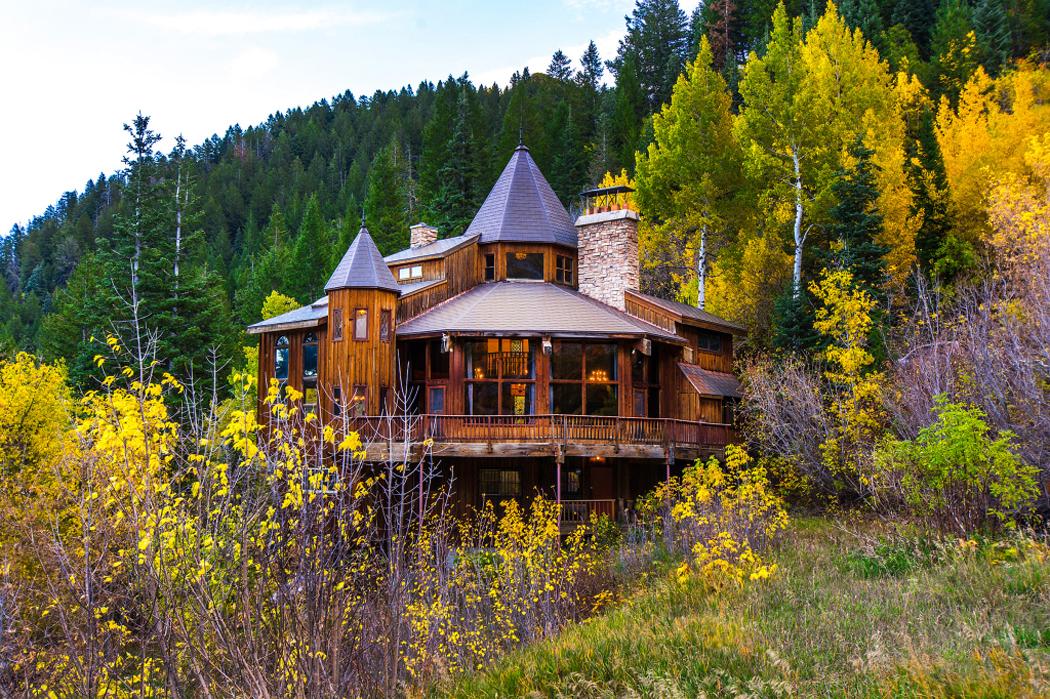 Superbe maison rustique de vacances dans la montagne - Vacances a la montagne villa rustique aspen ...