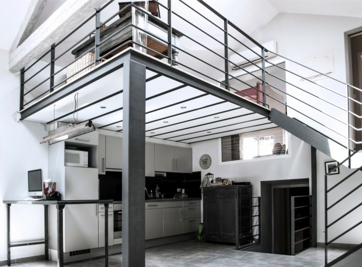 Ancienne papeterie transform e en loft industriel en france vivons maison - Style loft industriel ...