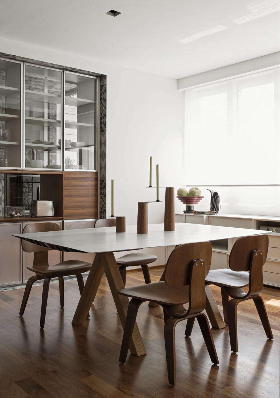 #3A2B1E Bel Appartement Au Design Intérieur épuré à Sao Paulo  3673 salle à manger moderne bois massif 1050x1495 px @ aertt.com