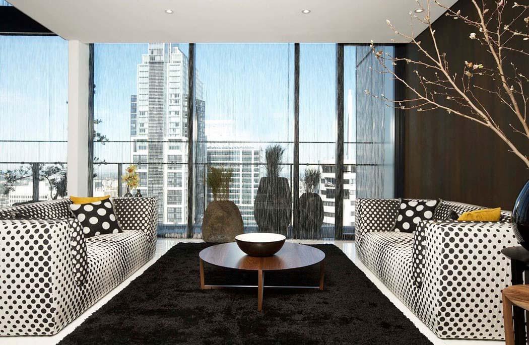Penthouse luxe à Sydney avec design intérieur minimaliste et vue ...