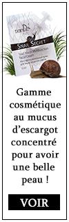 cosmétiques soins produit mucus d'escargot concentré