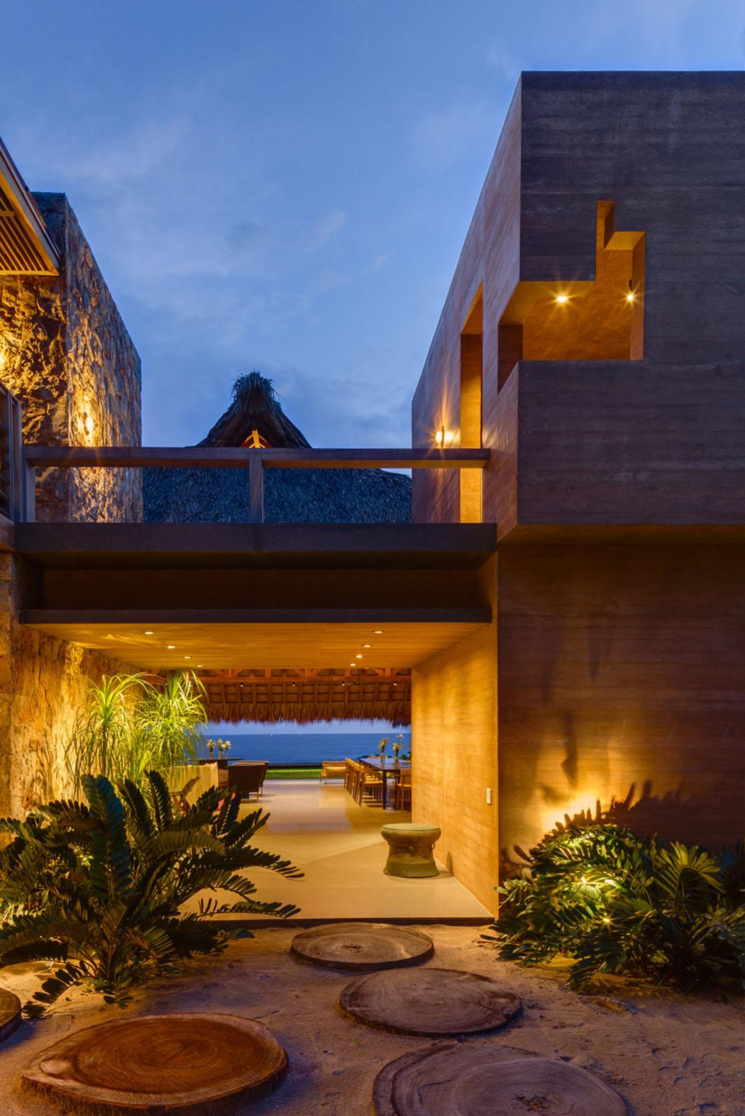 Belle Maison Secondaire Au Design Exotique Sur La C Te Mexicaine Vivons Maison