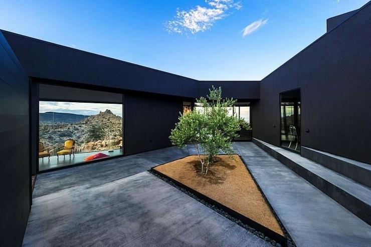 patio devant les chambres coucher de cette maison darchitecte - Maison Moderne Architecte