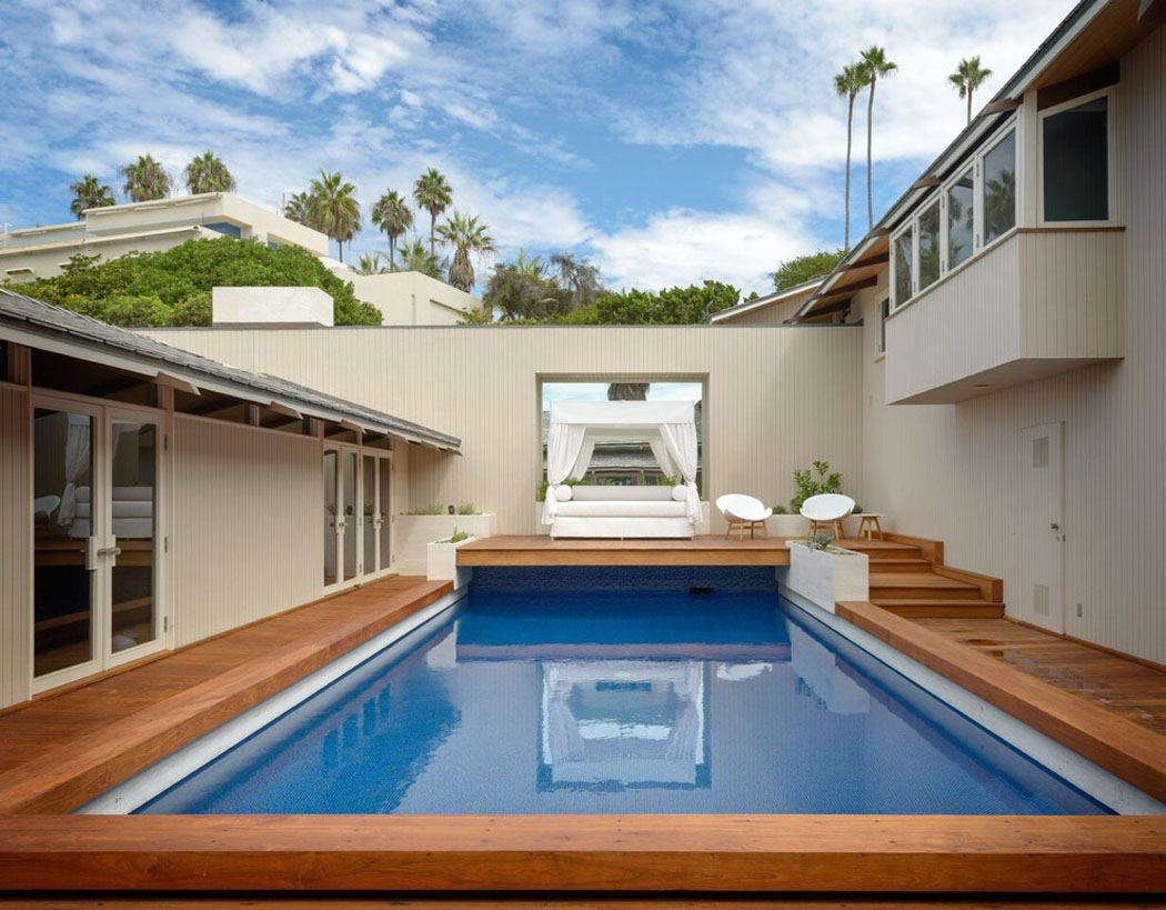 Belle maison de vacances au design int rieur contemporain for Alarme piscine home beach