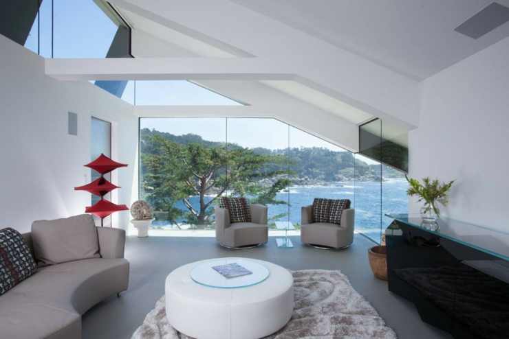 Architecture moderne pour une maison californienne perch e - La contemporaine residence de plage las palmeras ...