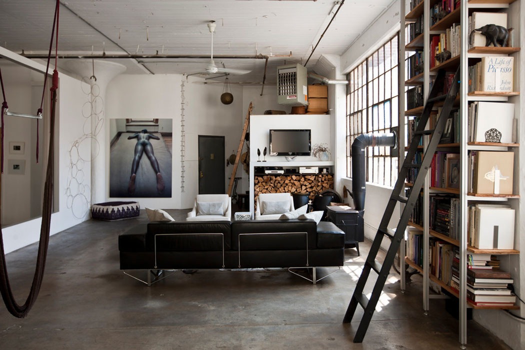 loft de ville new york au design int rieur inspir par le style industriel vivons maison. Black Bedroom Furniture Sets. Home Design Ideas