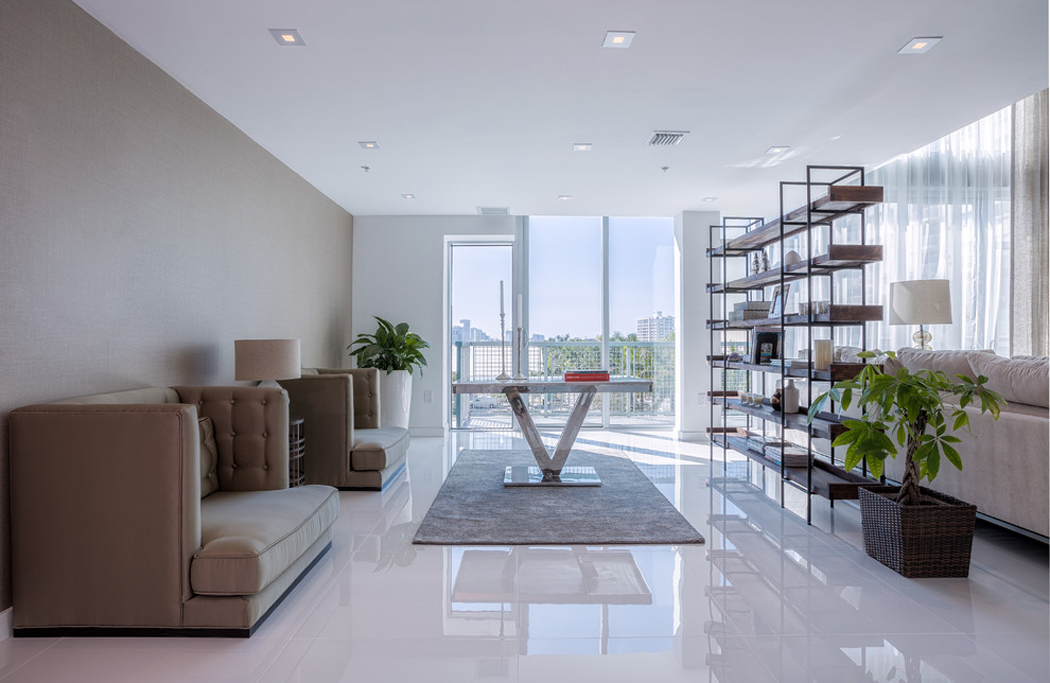 Bel appartement en duplex au design moderne situ miami - Appartement moderne susan manrao design ...