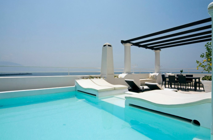 Sublime villa de r ve avec vue sur la mer ercolano for Alarme piscine home beach