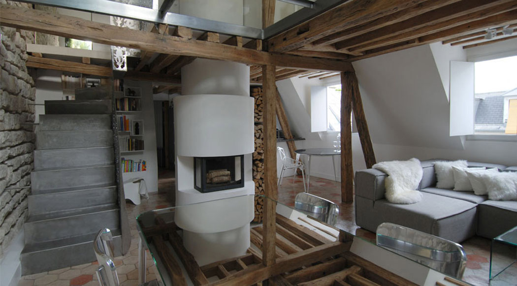 Un appartement en duplex au design moderne pas comme les for Appartement maison paris