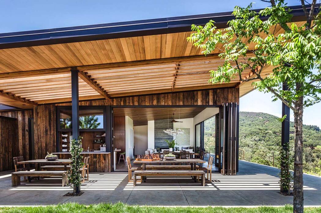 Vivre au c ur des vignobles maison secondaire moderne et - Residence de vacances gedney architecte ...