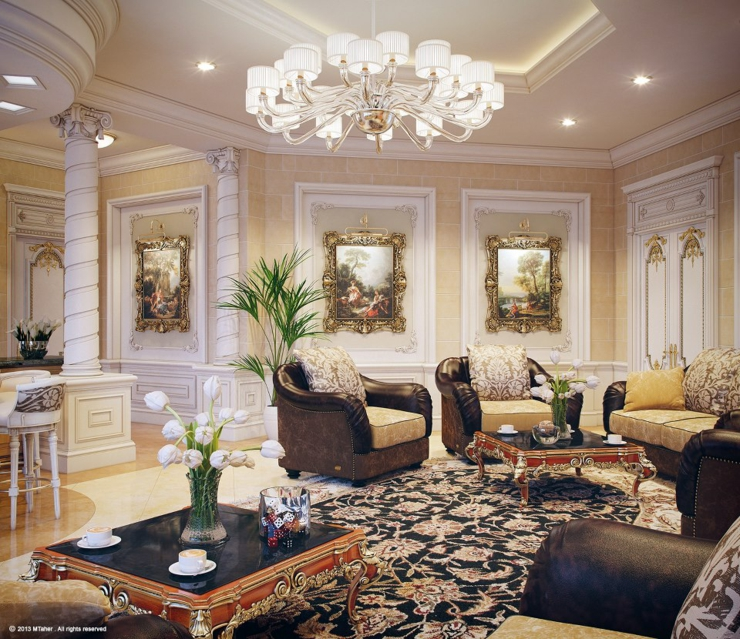 Villa De Luxe Au Design Dintrieur Oriental Qatar Vivons Maison