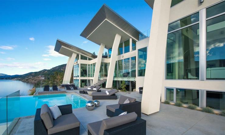 Magnifique r sidence de luxe au bord d un lac au canada for Residence luxe