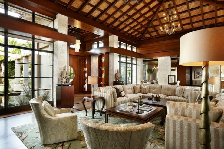 Influence asiatique pour cette magnifique r sidence de - Residence de vacances gedney architecte ...