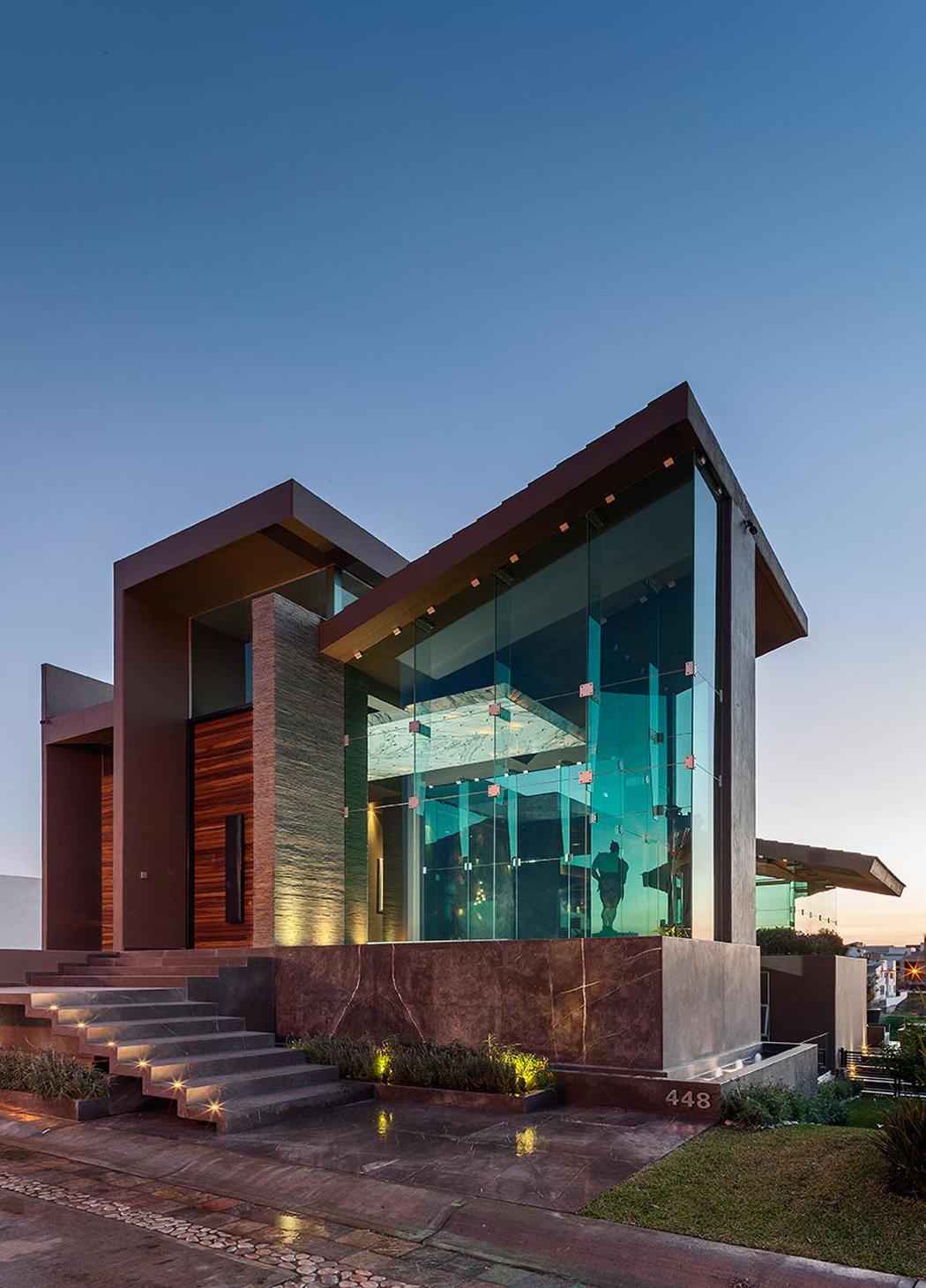 Maison contemporaine de ville situ e au c ur du mexique - Architecture contemporaine residence parks ...