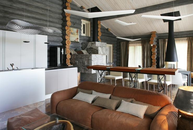 Belle Et Rustique Maison En Bois Dans La Region De Moscou Vivons