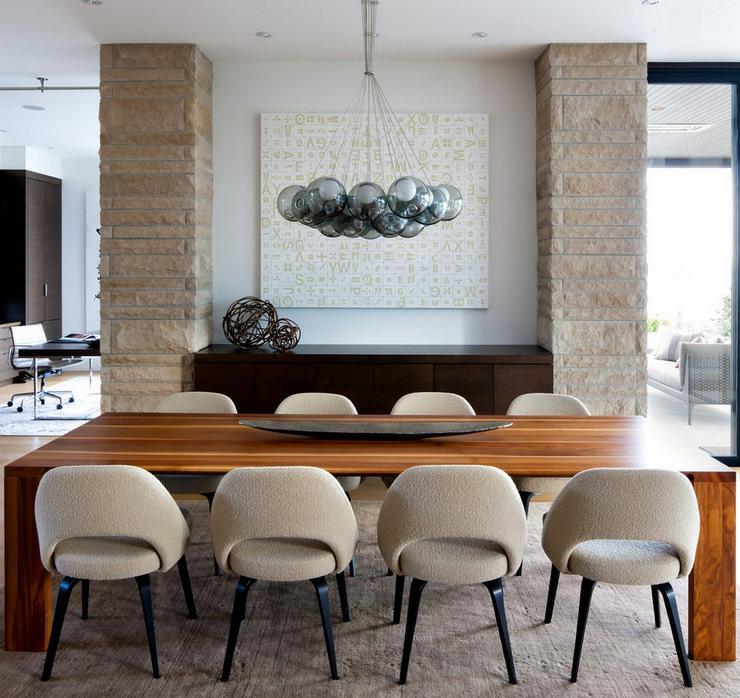 Prestigieuse maison moderne avec vue sur la mer a for Salle À manger contemporaineavec lit À eau