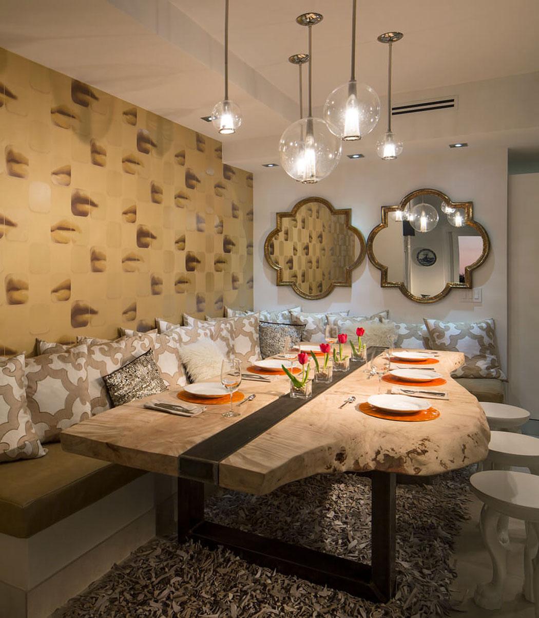 Appartement design luxe avec superbe vue sur la mer for Meuble de salle a manger suspendu