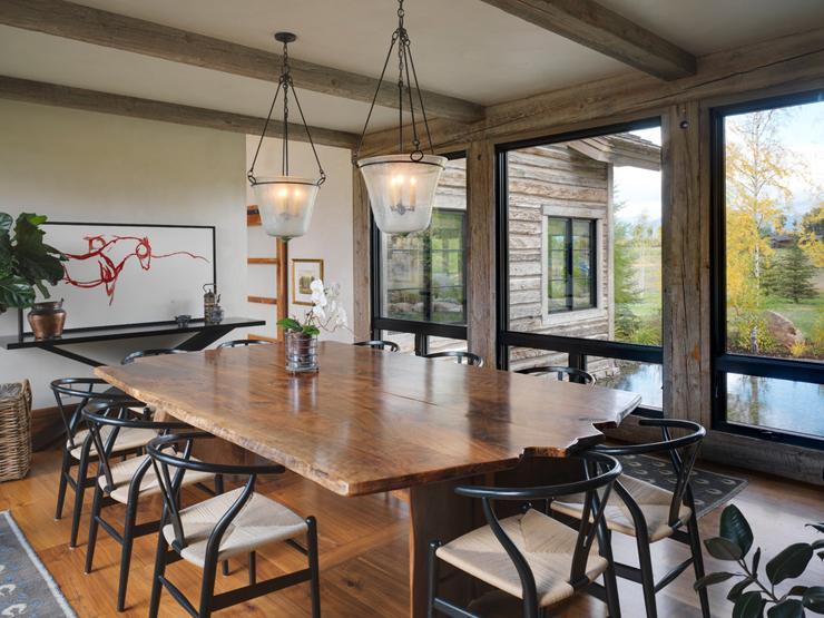 Rustic wood dining