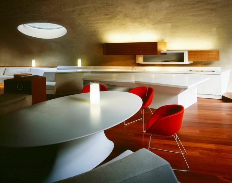 Maison moderne japonaise l architecture futuriste for Salle a manger futuriste