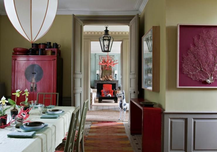 Maison de campagne en france la d coration clectique - Decoration salle a manger rustique ...