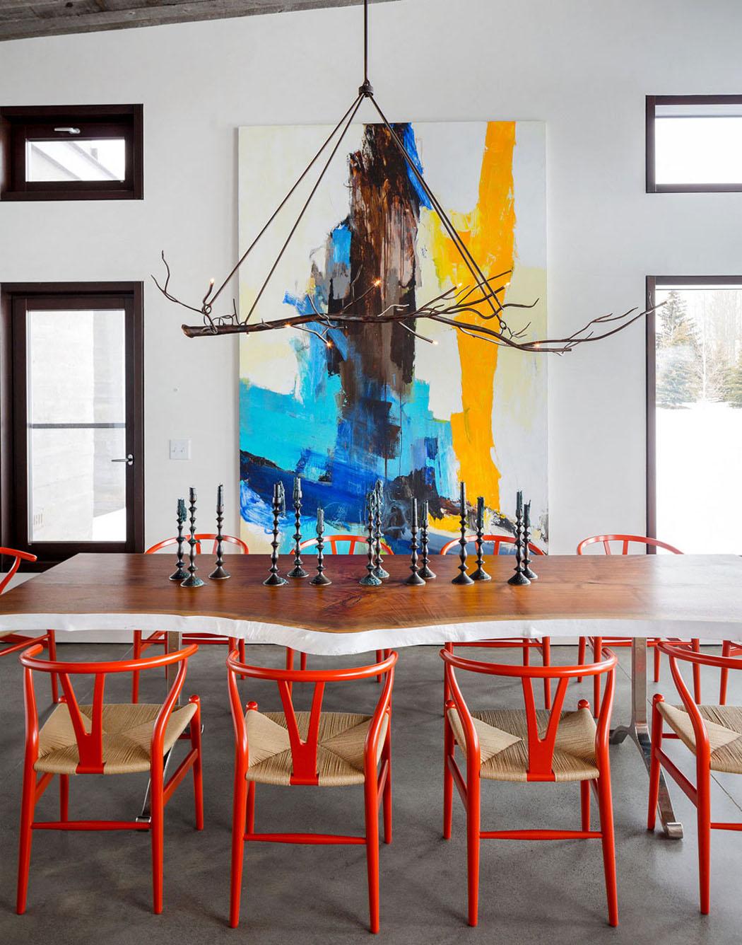 #BE210D Une Maison Rustique Modernisée Dans L'esprit éclectique  3913 salle à manger style art déco 1050x1336 px @ aertt.com