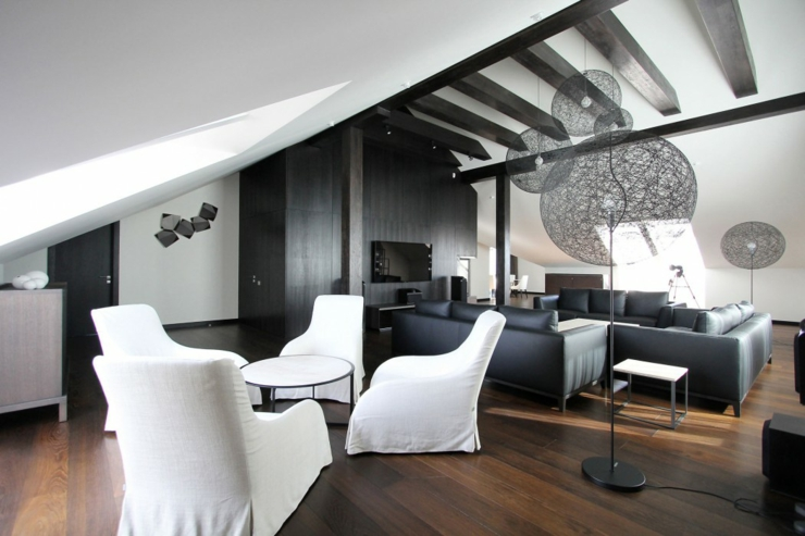 appartement moderne am nag dans les combles d un immeuble kaliningrad vivons maison. Black Bedroom Furniture Sets. Home Design Ideas