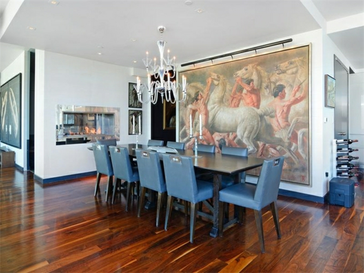 Immobilier de luxe la vue panoramique sur manhattan for Salle a manger york