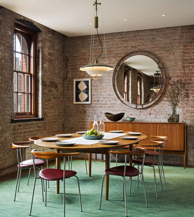 Beau loft industriel manhattan new york vivons maison for Salle a manger york