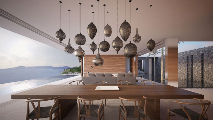 Magnifique maison d architecte mayotte avec une vue for Salle a manger orientale