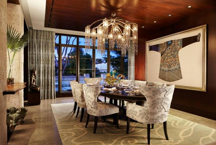 salle a manger luxueuse - influence asiatique pour cette magnifique r sidence de vacances vivons maison