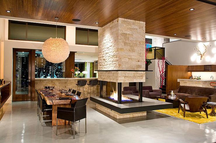Superbe maison d architecte los angeles vivons maison - Cuisine au milieu de la piece ...