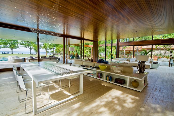Belle maison contemporaine sur la c te br silienne - Villa de luxe vacances miami j design ...