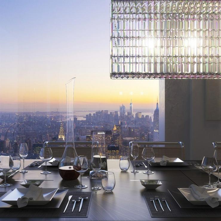 Appartement de standing manhattan dans le plus haut for Salle a manger new york
