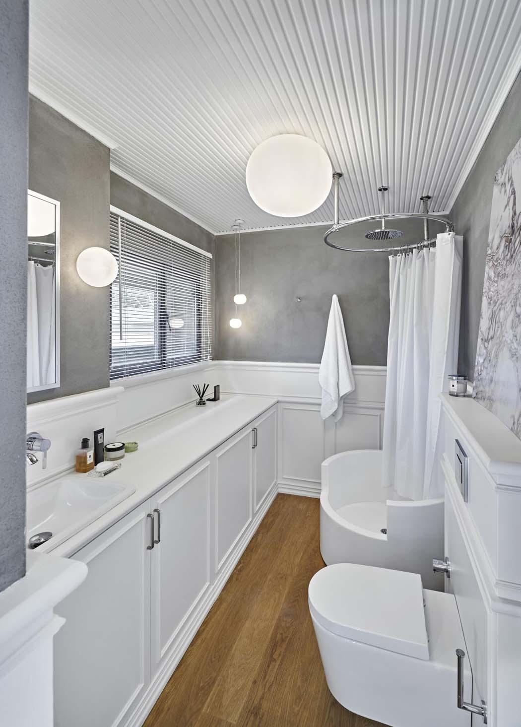 Moderne et minimaliste design pour cet appartement avec - Douche appartement ...