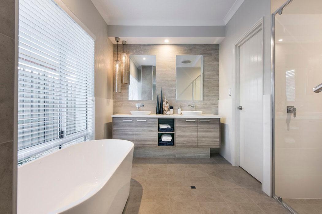 Design int rieur agr able et moderne pour cette jolie for Salle de bain chambre ouverte
