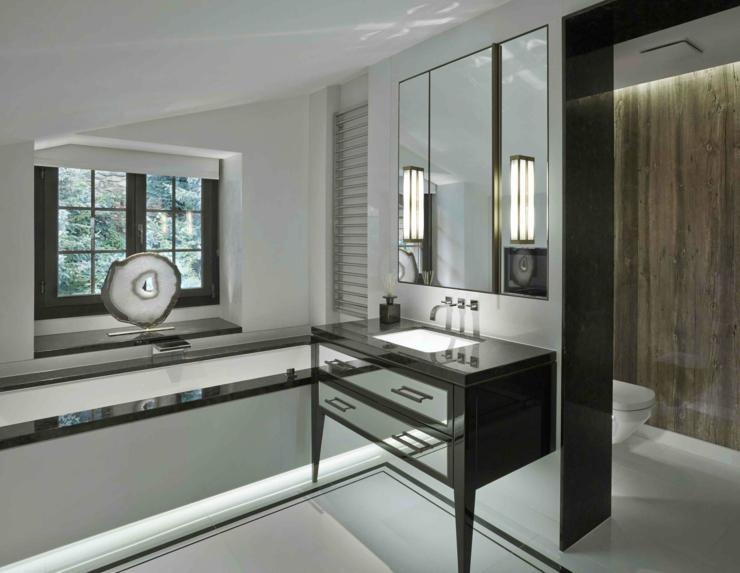 Decoration salle de bain en noir et blanc id e inspirante pour la conception de - Decoration salle de bain noir et blanc ...