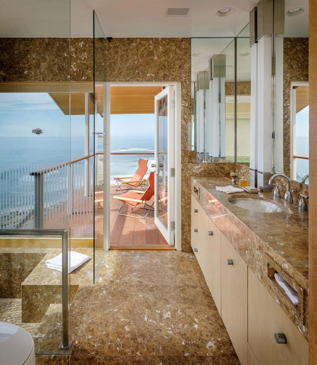 Salle De Bain Beige Meuble Taupe ~ belle maison de vacances au design int rieur contemporain et